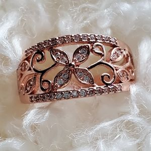 Jewelry - S925 Rose gold ring size 10